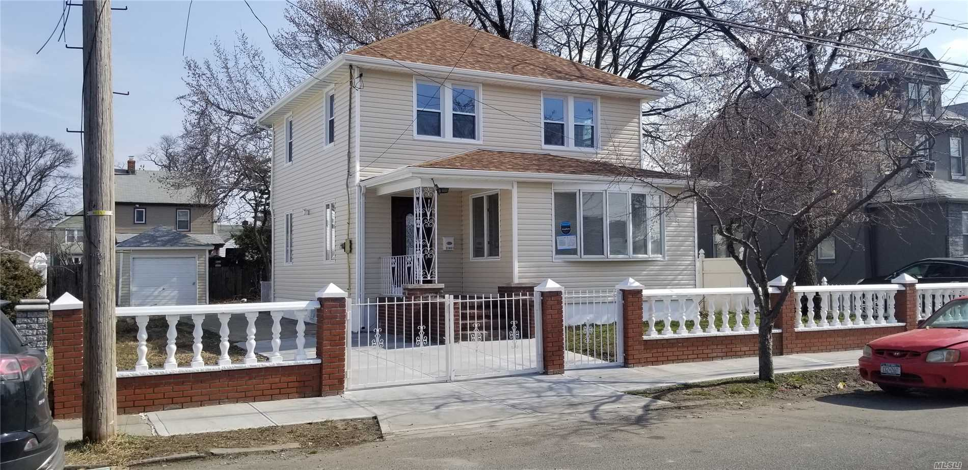 If space is your concern then look no further..This Huge 1 family, Four bedroom, with finished basement,  Renovated with Hardwood Floors, Stainless steel appliances, New Roof, New Siding, washer & dryer, New Concrete and Huge yard Big enough for trucks, bucks & ducks. Won't last.