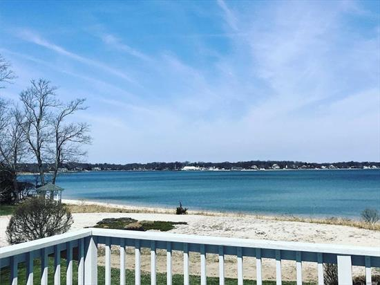 Its all about Location! Stunning Views from this Southold Bayfront Ranch Home with Walk Out Lower Level. Rare Opportunity To Own a Home Directly on Southold Bay Near Goose Creek. Open Floor Plan. Gorgeous View from Living Room, Dining Room, and Master Bedroom As well as Downstairs Living Area. Two Level Deck for Entertaining, Lawn and Sandy Beach. Not in Flood Zone. Become Part of this North Fork Community For Generations To Come!
