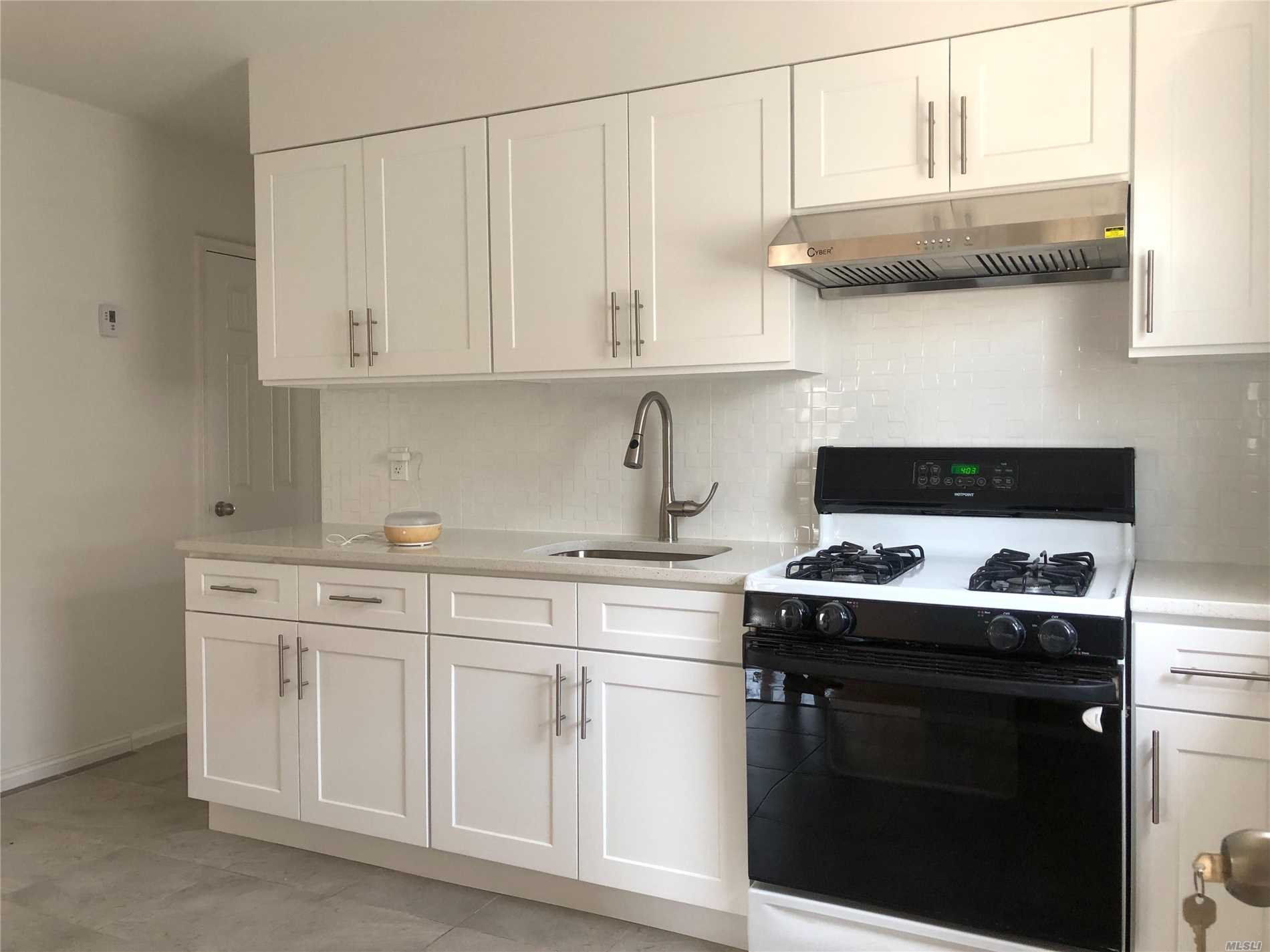Newly renovated second floor apartment in a quiet neighborhood of whitestone. Plenty of sun exposure, good location and easy street parking. Place is move in ready!