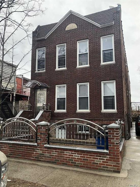This is a 4 family big size building, 10 minutes from Flushing. Newly renovated...Great Income Potential - 12 Month Home Warranty Available to buyer upon purchase.