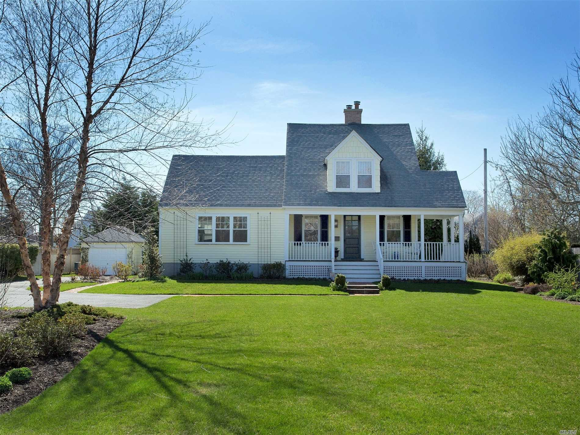 This Pristine Sun-filled Sequams Colony Colonial, Living Rm W/Fpl, Formal Dinning Rm, Large Den, Hardwood Floors Thru-out, 3 Spacious Bedrooms, New Bath, Updated Windows, New Electrical Panel, Beautiful Gardens and Wrap Around Front Porch. Association Docking. X-Zone, A Must See!