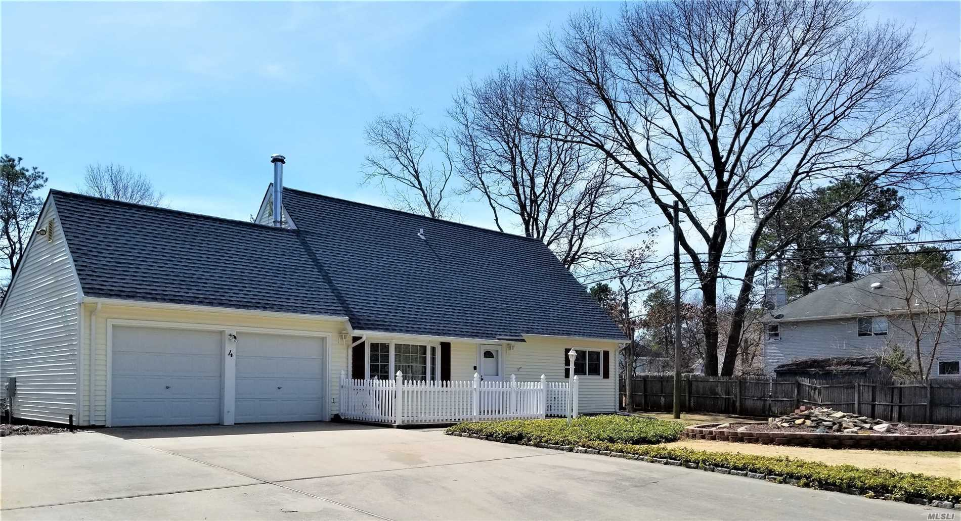 Diamond Expanded Contemporary Cape Features 4 BR's, 2 Baths, Vaulted Ceilings, 2 Story LR, Family Room with Cathedral Ceilings, Hi-Hats, CAC, Updated Eat-In-Kitchen, Laminate Flooring, Attic Fan, Large Walk-in Closets, Loft Overlooking LR, Vinyl Siding, New Roof, IGS, Semi-In-Ground 15'x30' Pool W/New Filter, Fully Fenced Professionally Landscaped Backyard With 2 Detached Decks With Canopies. 9 Car Driveway, Oversized 2 Car Garage,
