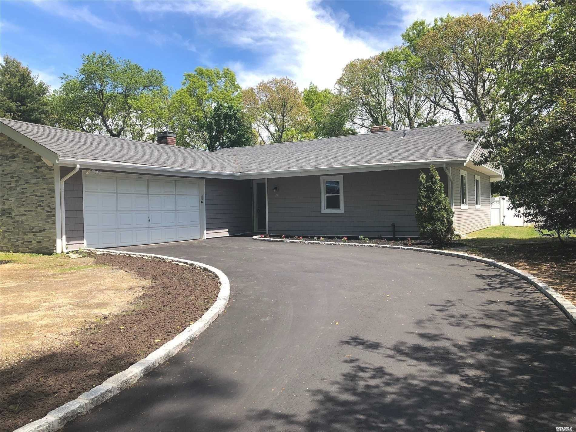 Diamond Ranch In Three Village Schools. Completely Renovated New Roof, Siding, Kitchen, Flooring And Much More. A Must See.