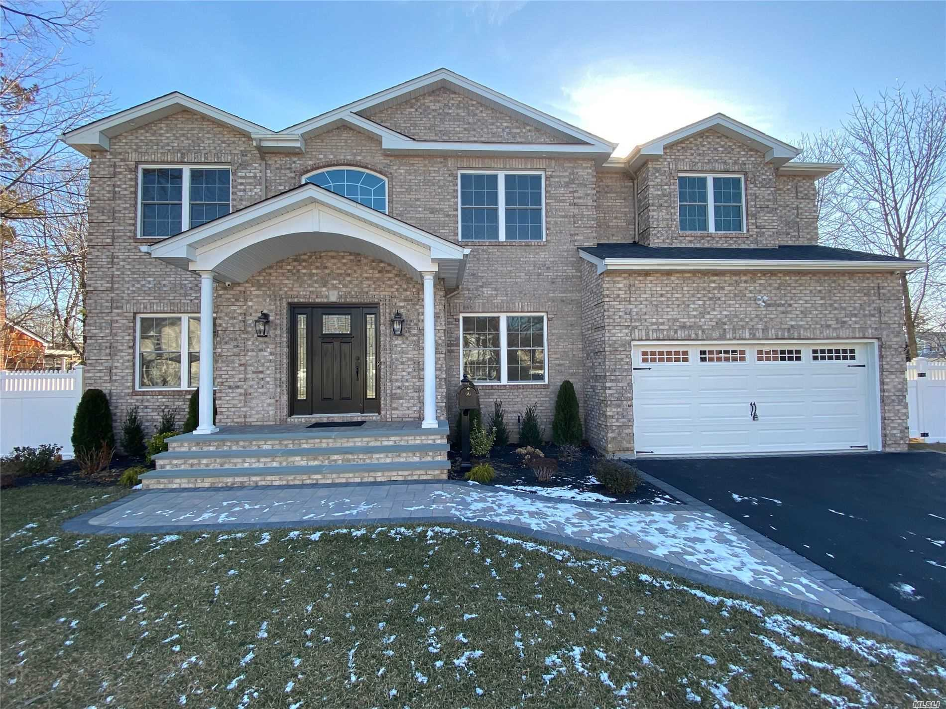 New Home JUST STARTING TO-BE-BUILT In Heart Of Wantagh Woods--Photos Are Of Same Model Home By Same Reputable Bldr (30+yrs). Just Over 3600 Int SqFt Of Open Flr Plan Designed To Perfection & To-Be-Finished W/Utmost Quality Of Construction. Huge Bsmt, Designer Baths, Eat-In-Kitchen W/Top-Of-Line SS Appls, Walk-In Pantry, Pella Wdws, Flawless Trim-Work/Details Throughout, 1st Flr Jr Suite/Office W/Own Private F-Bath (+Add'l H-Bath/Powder Rm On 1st Flr), Mstr Ste W/Giant WIC & Fbath+Jcuzzii, & MORE!