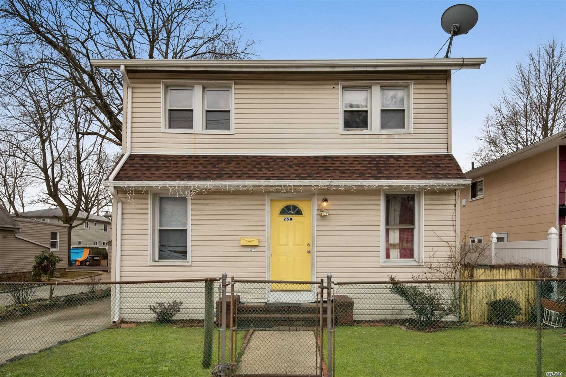 Excellent 1806 square foot 3 bedroom 2 full bathroom colonial in Hempstead. Featuring hardwood floors, spacious bedrooms, formal dining room, office/room, gas stove, full basement with a room and full bathroom. Spacious backyard for entertaining and detached garage. Close To Shops, Restaurants, and transportation. 3D Virtual Tour, Floor Plan, & Doll House View Available. See Video Or Virtual Tour Link.