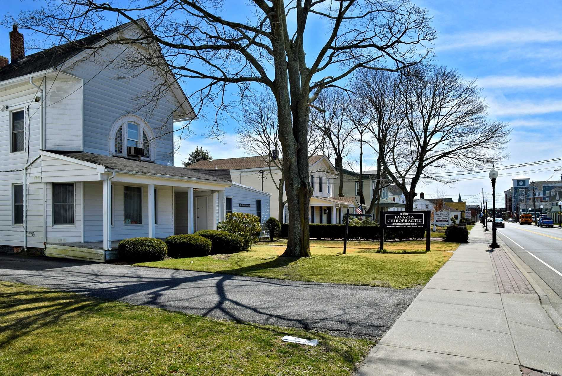 fantastic income producing property. chiropractic office now, attorney, many professional use possibilities..b residence & office district...zoning 435-16.....patchogue village. this beautiful victorian home is located walking distance to Patchogue village. one of the hottest areas on long island. new gas heating unit..call to see it. never rent again..call me