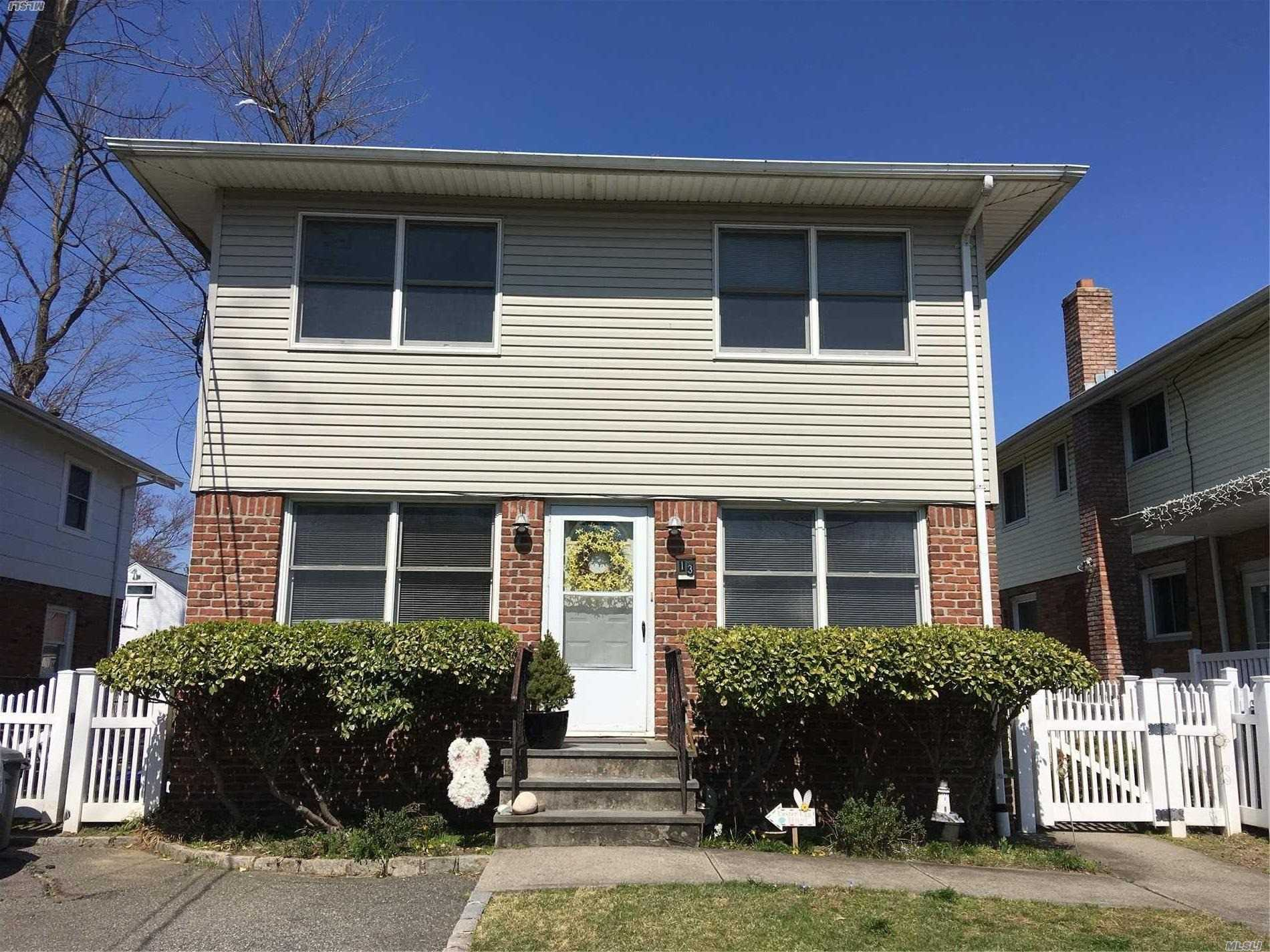 Second Floor 2 Bedroom Apartment on Quiet Residential Street in Manhasset Isle. Laundry/Storage Rm in Basement; Shared Backyard.