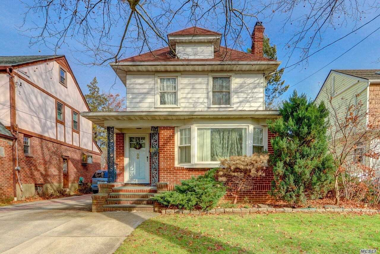 This Wonderful Westwood Col Features An Entry Fyr With A Closet, A Living Rm With A Wood Burning Fpl, A Formal Dining Rm, An Updated Kit, Den, 3 Bedrms, 1.5 Half Updated Baths, Parquet Hardwood Floors, Storage Attic, Full Bsmt, A One Car Det Garage With A Long And Private Driveway, A 40X100 Piece Of Property And Much More. This Col Is Within Walking Distance To The Westwood Park & Lirr!