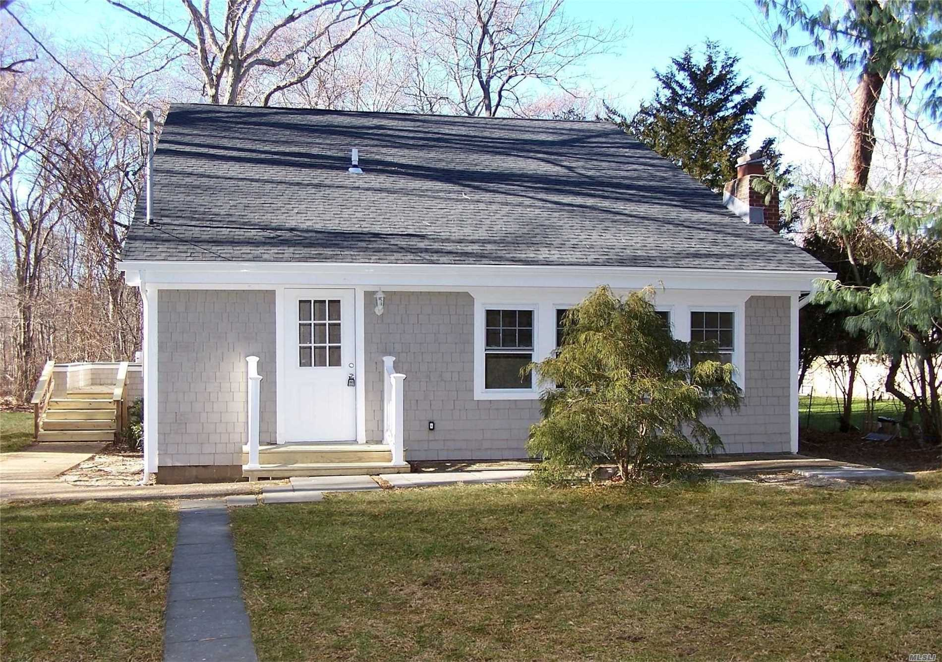 Newly Renovated East Hampton Gem. This Beautiful Contemporary 4 Bedroom and 3 Full Bathroom Home Features New Roof, Stainless Steal Appliances, Quartz Counter tops, Hardwood Floors. Tons of Natural Light. Close To The Water. Easy Access To Road. Don't Miss Out On This Charming East Hampton Beauty.