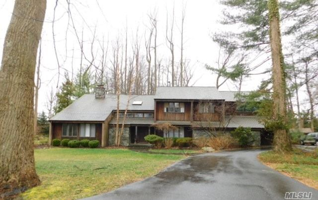 Sprawling Colonial Style Home On A Lush 2 Acres Of Land, Being Sold Occupied. Located On A Pretty Tree Lined Street In A Fantastic Neighborwood W/ Cold Spring Harbor School District. Don't Miss This Incredible Opportunity!!