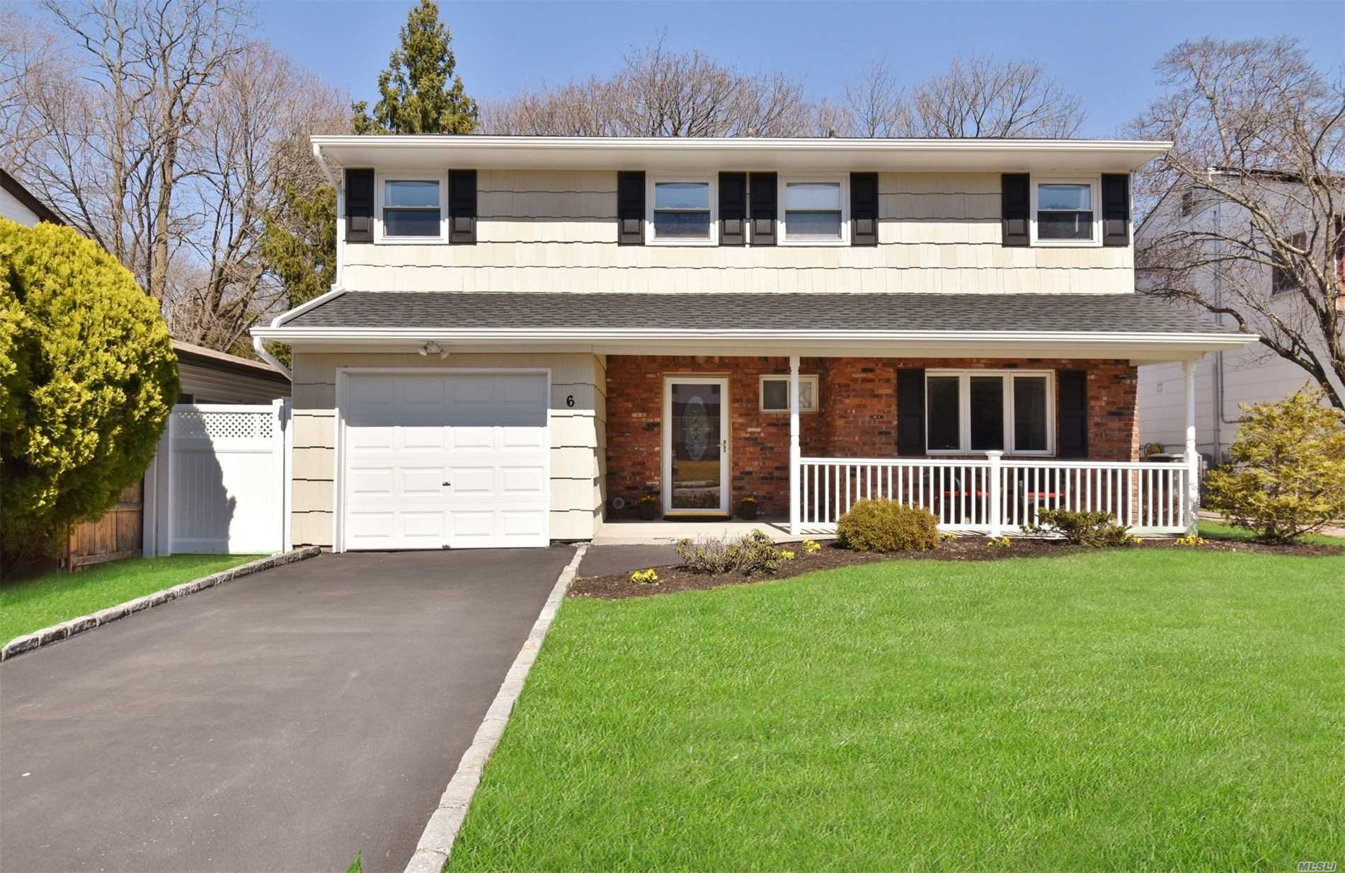Fabulous 4 Bedroom, 2.5 Bath Colonial/ Splanch Home is located in a private Cul-de-sac. This immaculate home offers generous sized rooms and is move in ready with many updates. Gas conversion with new heat system and Hot water tank, 2017 roof and gutters, updated electric, full resin fencing, Updated kitchen and baths, Spacious floor plan, gleaming hard wood floors, wood burning fire place, Cathedral ceilings and more!