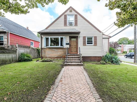 Affordable 4Br Cape In Lynbrook. Lr, Eik, Br, Mbr And Full Bath On Main Level. 2Br On Second Floor With Built Ins And Access For Storage. Finished Familyroom. New Gas Boiler, updated electric,  Private Driveway. Located Near Schools And Highways.