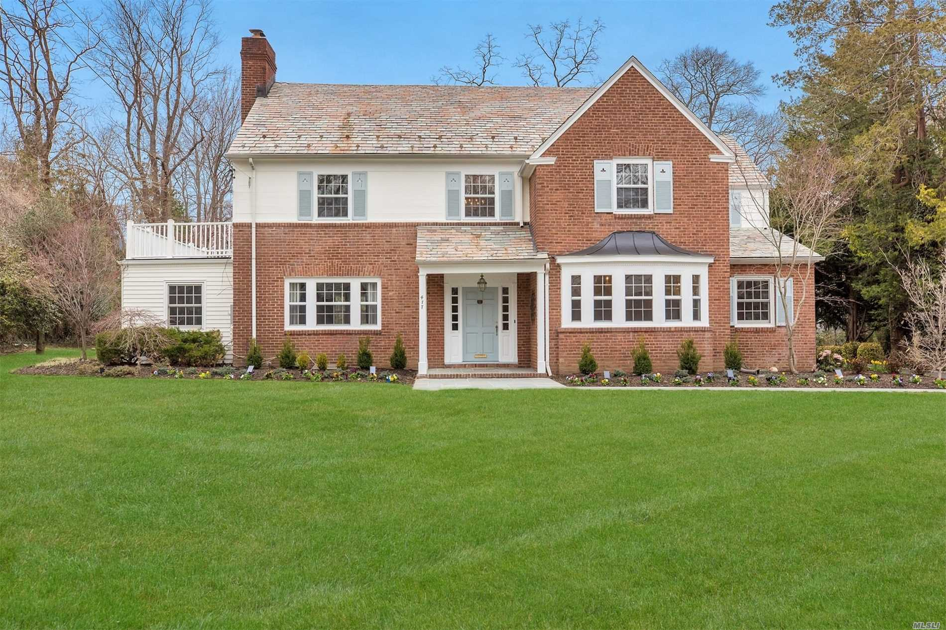 Showcase of Distinguished HomesTM presents this renovated center hall brick colonial. New designer EIK with quartz counters and island. LR w/fp, Fam Rm, FDR, Pwdr rm, Office with access to patio and yard. Mstr Suite w/bath, walk in closets, 3 bdrms, bath, back staircase to guest rm w/bath, laundry.
