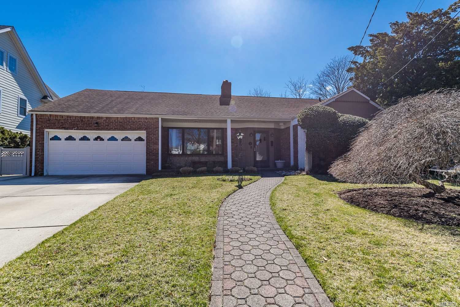 Pristine Ranch Opportunity Close to Village Center, and LIRR.It's Not Often That These Come to Market.Gorgeous, Bright LR/DR w/FPLC, EIK, Sunken, Sundrenched Den, Enormous Mstr Suite w/WIC, 2 Addt'l BR, Full Bath, Closets GALORE! Fin Basement Covers Full Footprint Adding Great Space for Recreation & Utilities.Pella Windows Throughout, Newer Roof. Potential to Expand Upward is Endless! See Attached Floor Plan