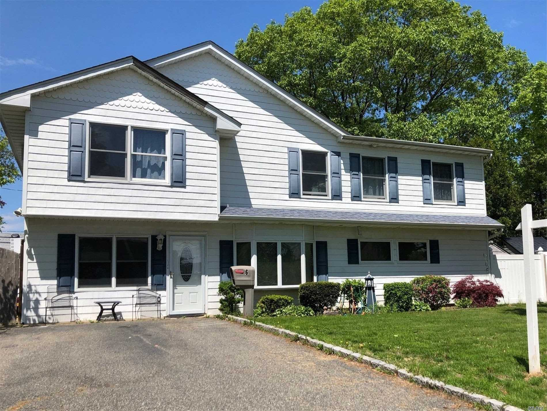 Completely renovated and dormered 10 years ago. Updated Eat in Kitchen and Baths. Large and spacious bedrooms and closets galore.Full formal dining room with sliders to yard. 15 x 25ft Semi-inground pool with decking and plenty of room for entertaining.