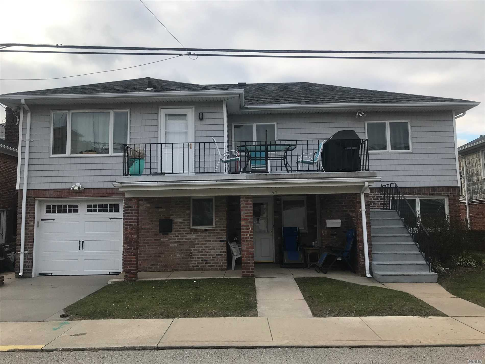 East Atlantic Beach: Beachside 2br walk in apt with formal dining room, large living room, outdoor shared use of patio, 1 car driveway, private beach with full Free access. 1mos security no pets. All credit reports and income verification.