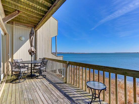 Diamond Turnkey Waterfront Condo, w/spectacular Water Views from every room Just shy of Hamptons, Walk to Ocean Beach, Newly renovated w/upgrades