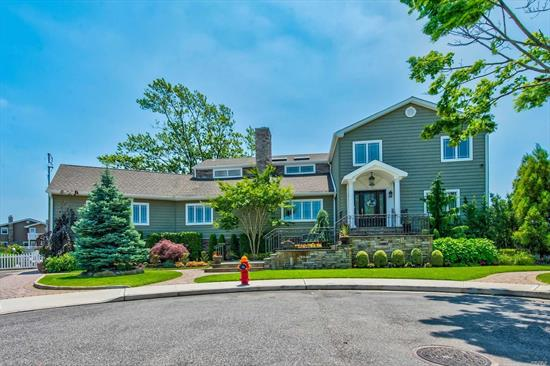 A picture perfect setting for this spacious Waterfront Colonial home In Biltmore Shores. Fully renovated in 2014. This home features a Master Bdrm suite w/Wic, balcony, gas fpl, 4bdrms, 3.5 bth, LR, Sitting rm, Family rm w/wood fpl, Radiant heat on 1st flr only, Laundry rm, Fdr, Gourmet Eik w/island and granite counters, a resort backyard setting w/saltwater Igp, over 300' of navy bulkhead, Ramp & Dock, a boaters dream! Home was lifted, flood ins. approx. $550