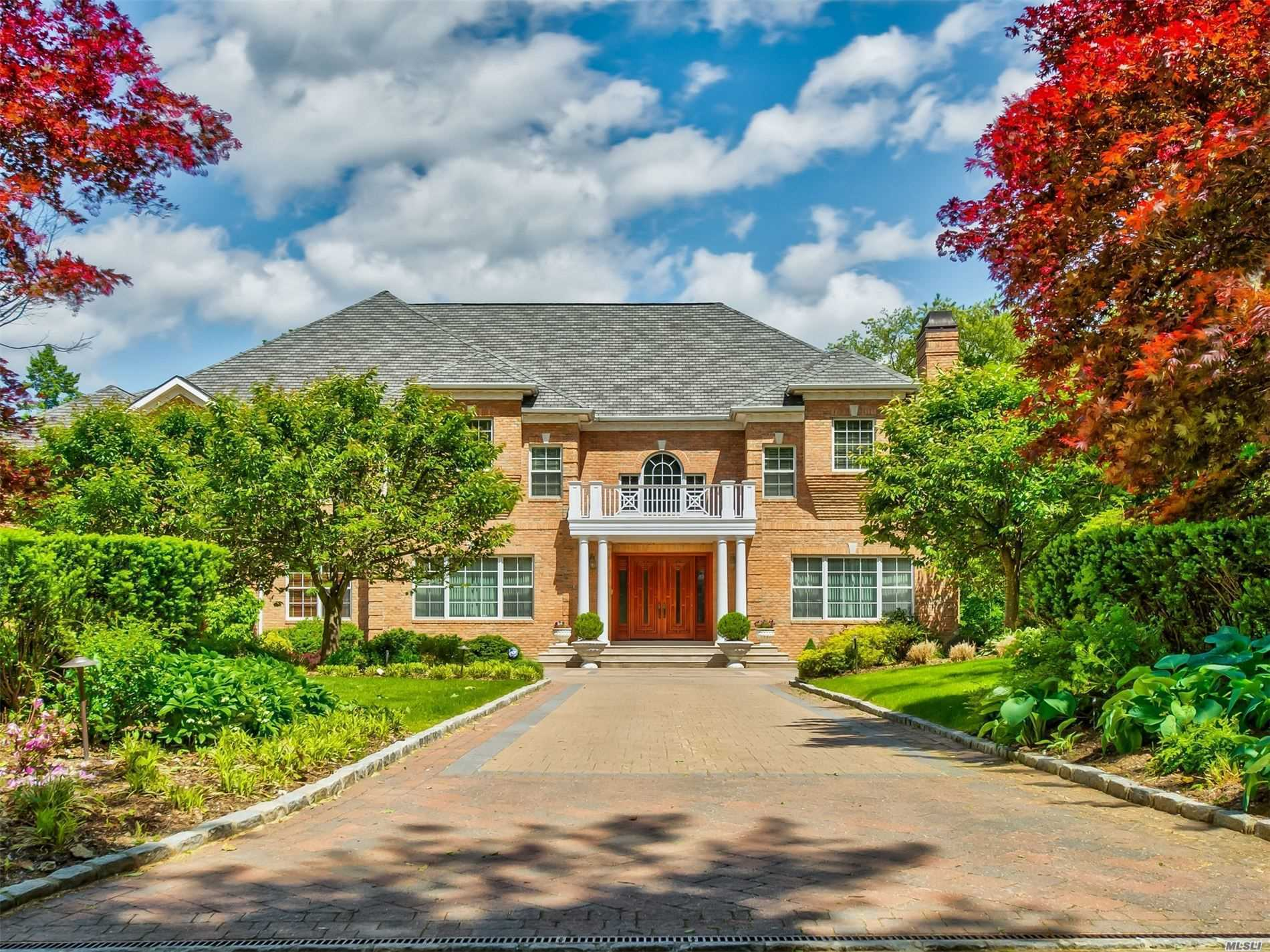 A Long Tree Lined Driveway Introduces This Stunning Custom Brick Georgian Center Hall Colonial, Custom Designed Featuring 16 Generously Proportioned Rooms With Exceptional Custom Mill Work, High Ceilings Throughout, Radiant Heated Floors, Amazing Hugh Chef's Gourmet Eat In Kitchen All Viking Appliances, Sub Zero Refrigerator, Adjoining Service Kitchen Great For Entertaining, Expansive Brick Patio With Gas Built in Kitchen, Bucolic Retreat That Inspires Serenity Amidst, 2+ Acres Of Lush Lawns.