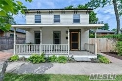 Classic Greenport Village Charmer in Heart of Downtown. Great Light w/Period Details. Nicely Proportioned Rooms. 3 Bedrooms, including Downstairs. Delightful, Enclosed Backyard.