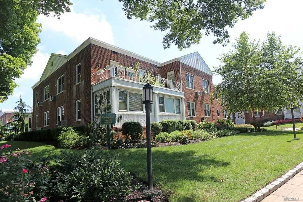 Beautiful large spacious fully renovated apartment, featuring an updated new kitchen and bathroom plus a bonus and enclosed fully renovated sunroom . Coop apartment is centrally located with walking distance to shopping and railroad. Apt is a must see!
