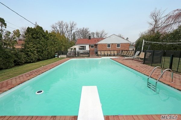 Renovated Hi-ranch. This home has 2 levels. New Kitchen with Wolf stove and oven. New bathrooms. Each level has 1850 square footage of living space. Magnificent private property with in ground pool. Private backyard. Herricks schools. Minutes to major highways. Low taxes