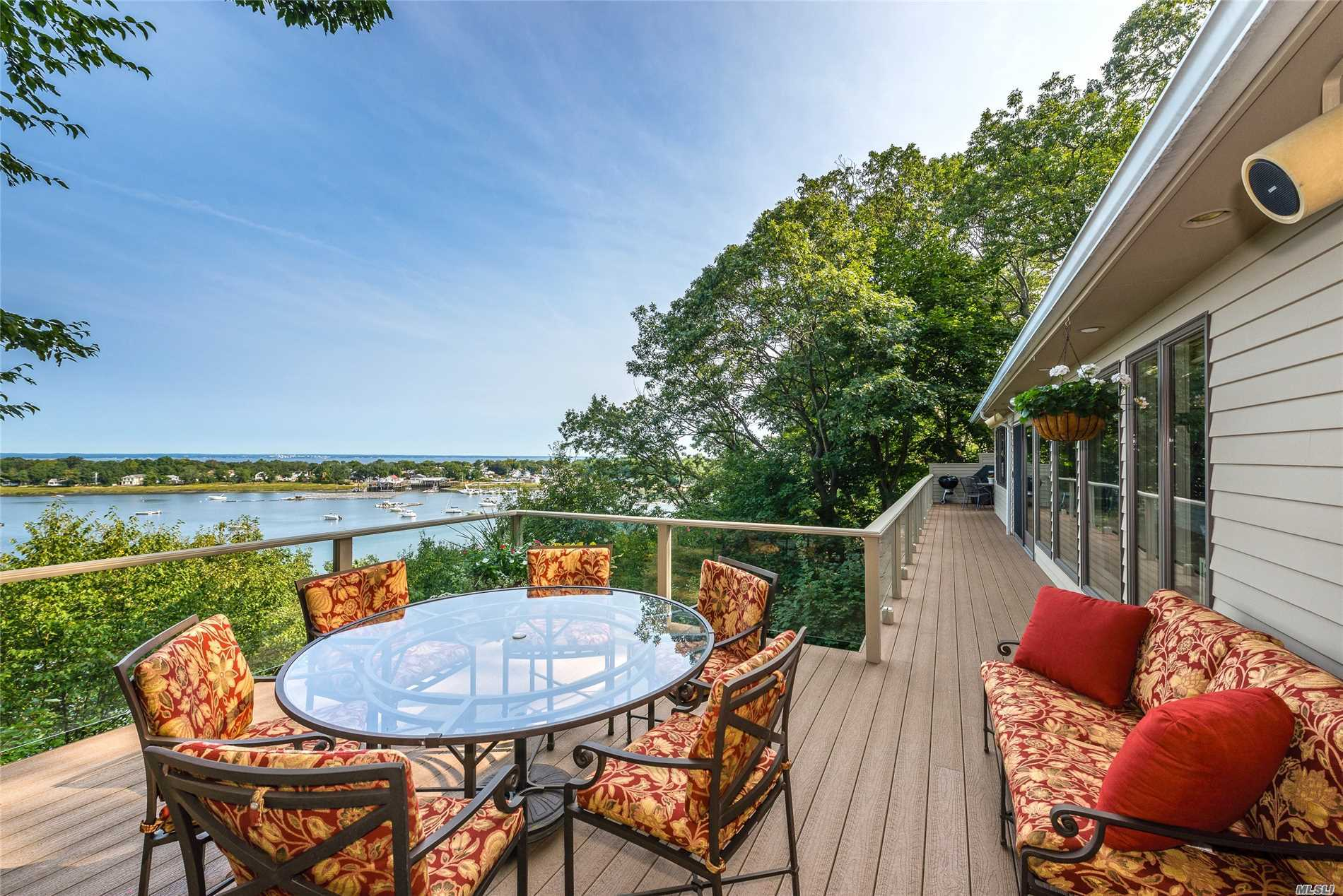 Hamptons Alternative! Enjoy Spectacular Water Views Of Mill Neck Creek, LI Sound And Connecticut Beyond In This 4-Bedroom, 2.5-Bath Hillside Retreat. This Meticulously Maintained Home Is Located In Mill Neck Estates, A Private Community Offering Private Beach Access & Mooring Rights. Perfect As A Summer Getaway, Weekender Or Year-Round Residence.