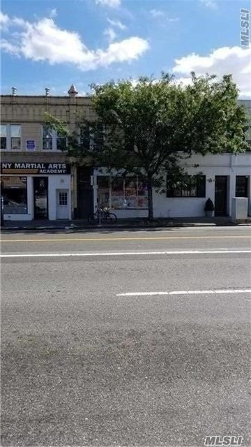:Commercial Building On Busiest Corner In Little Neck. Store And Two Apartments, One Bedroom, And Two Bedrooms On Second Floor.For Appointments -Notice Needed. *****Apartments Are Rented Please Don't Disturb The Tenants*** **** The one Bed Is Rented $1400 And The 2 Beds $ 1800 The Store Is Vacant If The New  Buyer Like To Use For His Own Business