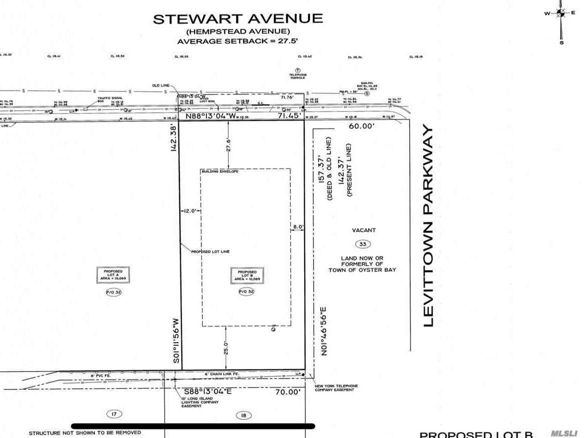 Huge piece of property (71x142=10k+ sq ft) for sale-- Plot B (EASTERN lot in 2-lot subdivision) already fully-approved building plot by Nassau County Planning Commission... Buyer/Builder only needs to get own plans drawn-up & then submit for necessary building permits directly to/with Town of Oyster Bay Bldg Dept, as if for any other new home project on a single & separate build-able lot of land. Applicable zoning allows for approx 3800 sq ft (+ bsmt) new home w/many new home comps over $1mil!