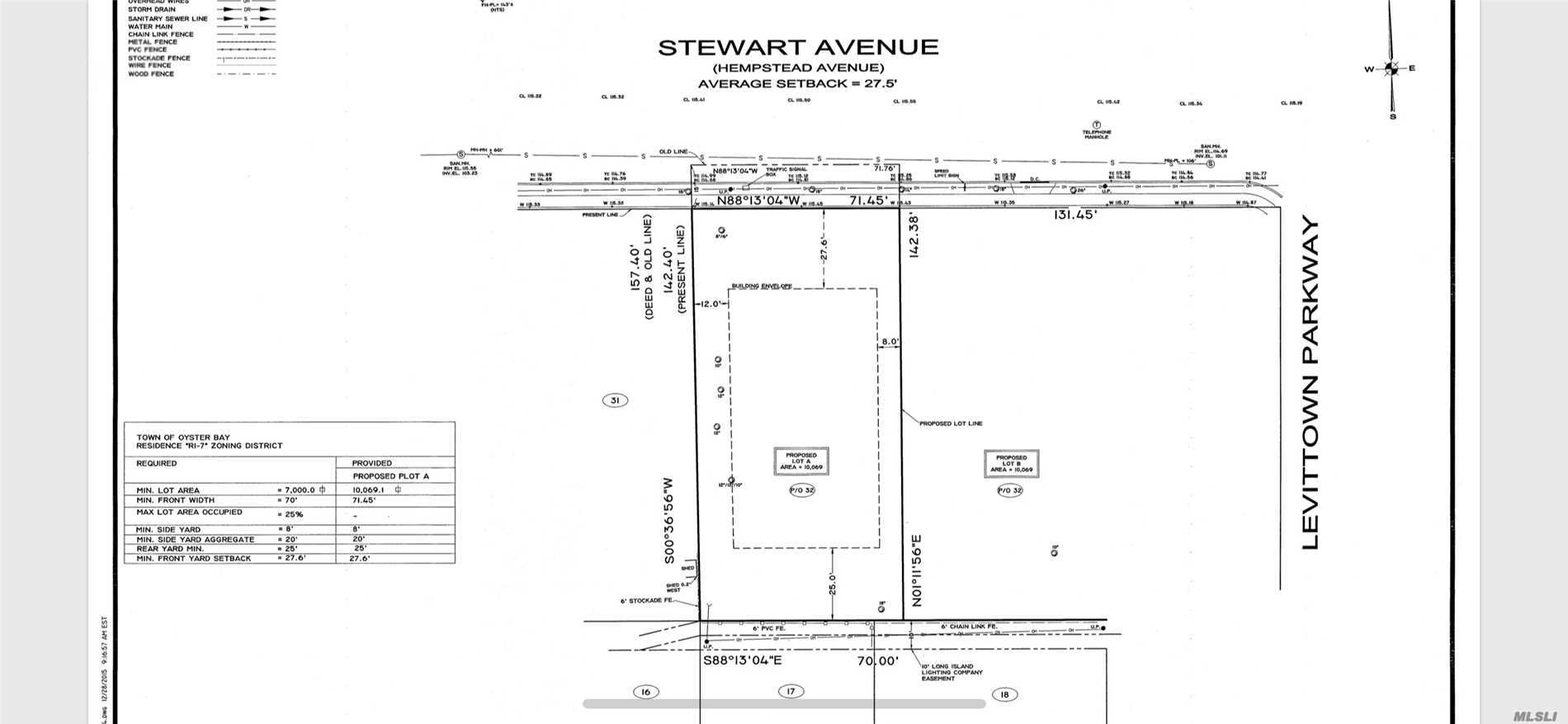 Huge piece of property (71x142=10k+ sq ft) for sale-- Plot A (WESTERN lot in 2-lot subdivision) already fully-approved building plot by Nassau County Planning Commission... Buyer/Builder only needs to get own plans drawn-up & then submit for necessary building permits directly to/with Town of Oyster Bay Bldg Dept, as if for any other new home project on a single & separate build-able lot of land. Applicable zoning allows for approx 3800 sq ft (+ bsmt) new home w/many new home comps over $1mil!