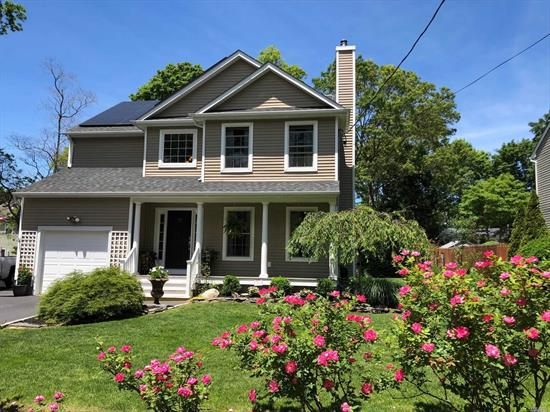 Your Search Is Over! This One Of A Kind 9 Yr Young Colonial Features Hrdwd Flrs On Both Levels, Wd Fireplace, Custom Moldings, Hi-Hats Galore, Granite, Stainless Steel App., Designer Tiled Bths, Custom Paint W/Cathedral Ceiling In Master, Potential For 4th Bdrm, Energy Effic.W/Solar Panels, Gas For Dryer, Stove & Outside Barbeque, Cac, Anderson Windows & Sliders Off Dining Rm To Deck And Slate Patio W/ Fully Matured Trees For Privacy! Close To Beach & Shopping. Driveway Allows Multiple Cars. Must see!