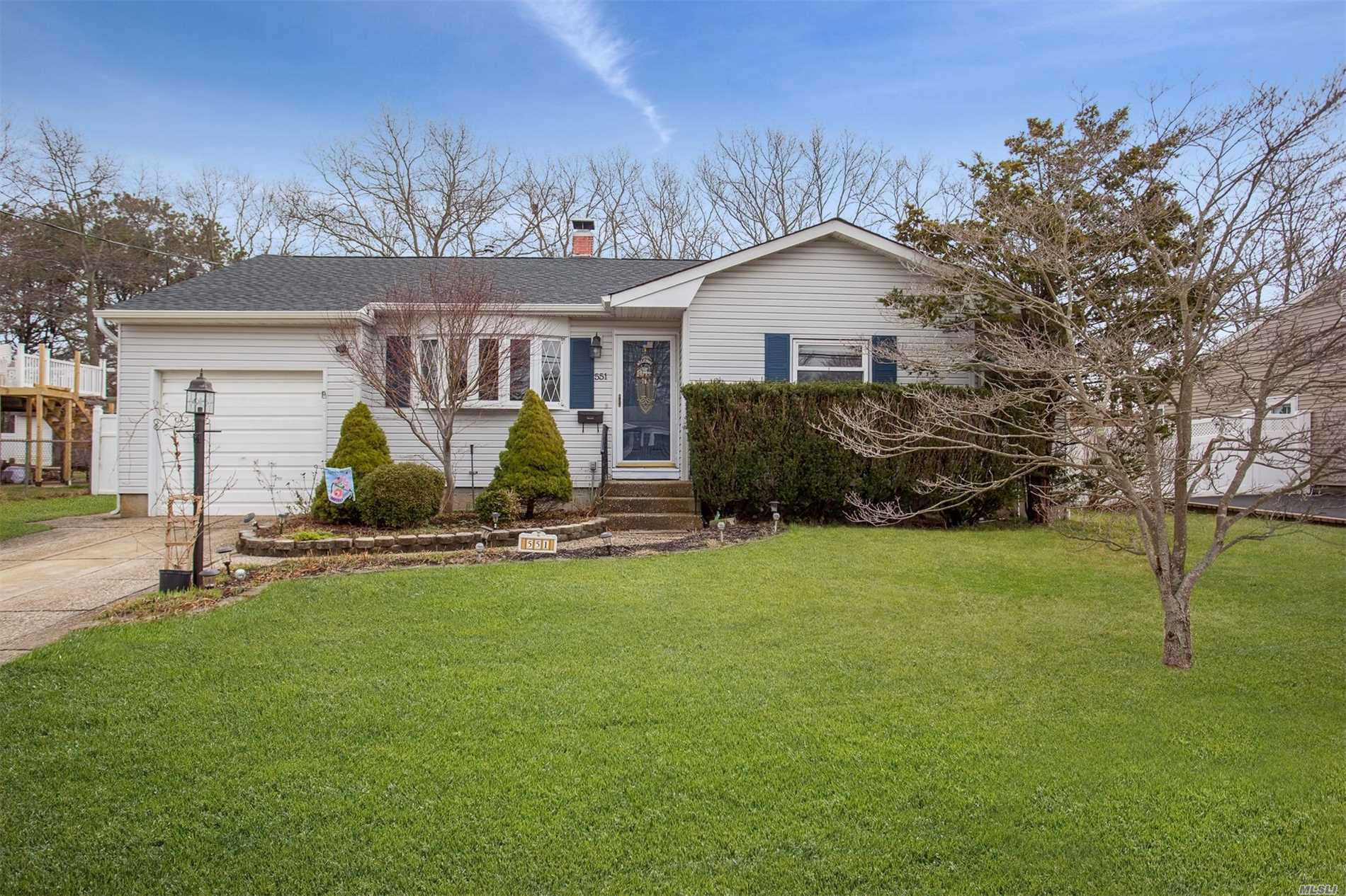 Don't Miss This Lovely Open Concept Bayport Ranch W/ Great Flow For Entertaining, Sunken Den, & Sliders Leading To Large Yard W/ Patio & Vegetable/Fruit Gardens. Full Basement Offers A Spacious, Comfortable, Finished Area, Laundry, & Plenty Of Storage. Garage Converted To 4th Bedroom W/ 1/2 Bath & Loft. Add'l Features Include A Wood Pellet Stove, Central Air, 1 Yr Roof, Gleaming Pergo And Hdwd Floors, And Newer Appliances, All Within Coveted Bayport/Blue Point Schools. Star Rebate $1, 388.75
