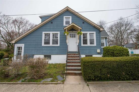 Attention property lovers! 225 deep yard in award winning SD#23! Great opportunity to make this home your own! Just painted, Hardwood floors, central air, gas heating and cooking, new washer and dryer, lots of sunlight, full basement with separate entrance. approx 1 mile from LIRR station