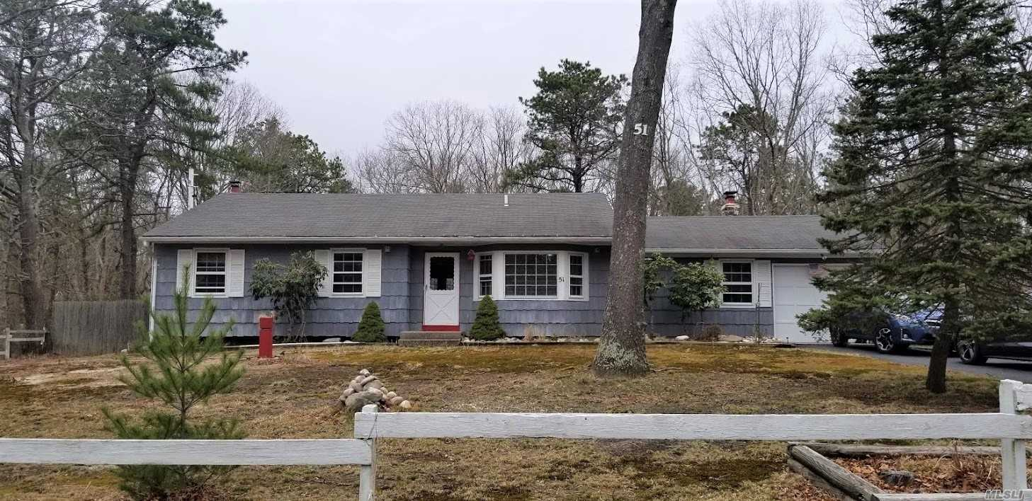 7 Room Sprawling Wide line Ranch Approx. 1700 Sq. ft., Set on Flat 1 Acre +. Well-built home with Plenty to offer. All Huge Rooms, Master fits King Size Bed & Full Bath, Hardwood Floors Throughout. Den with Vaulted Ceilings and Fireplace. Huge Basement, Home needs updating but very well priced, Home sold AS IS. Updated: Roof, Boiler, Electric panel.  Horse property Taxes being grieved, Mark Lewis approx. $1000 to -$1300. Taxes will be approx. $8413. with star.