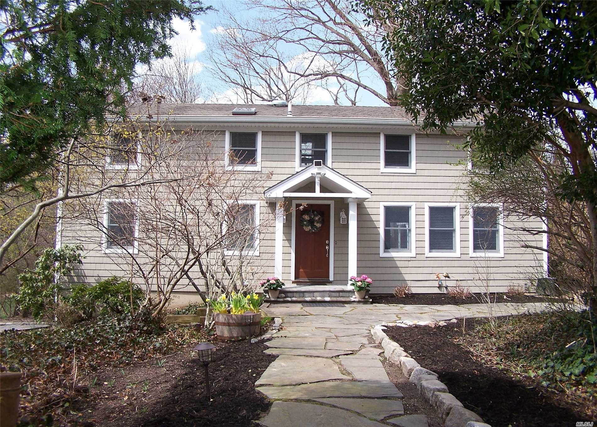 Diamond condition, New kitchen new bathrooms CAC 6 years old new siding , wood floor refinished 2 skylight on 2nd floor. Great location close to stony Brook Village. Basement has walk out to yard. Quiet area .. Dining room with sliding glass doors to outside deck. Furniture could be sold with house