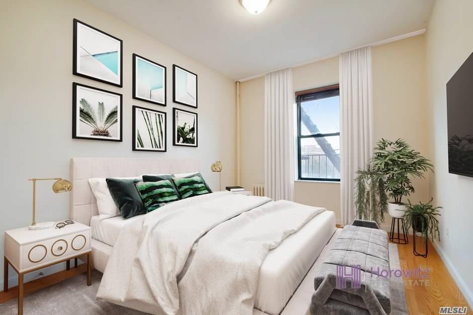 This lovely 2nd Floor apartment is located in the heart of Astoria, Queens in one of the best neighborhoods. Situated perfectly between the Broadway and 30th Avenue neighborhoods on Crescent St, it is close to all neighborhood amenities and transportation. The apartment is set back in the building with a beautiful courtyard separating it from the road. The home gets tons of sunlight through large windows and has a terrific open floor plan in the living room/kitchen combo.