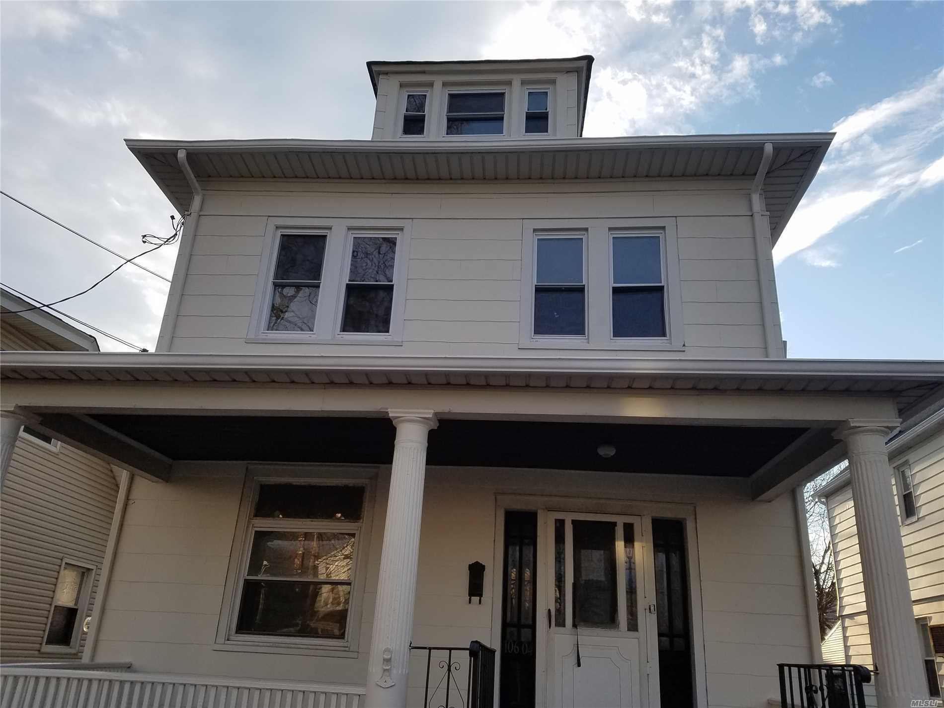 This house is totally renovated, brand new bathroom and kitchen, the best part of queens village. Features hardwood floor, 4 bedrooms, walk upstairs to the huge size. Attic, Privet driveway , mint condition.