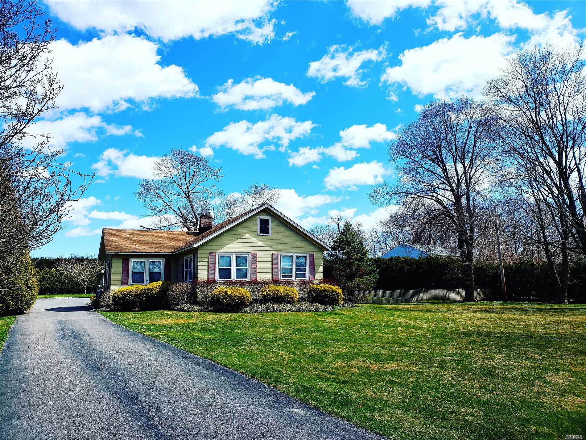 HOW SWEET IT IS! This Three Bedroom One Bath Ranch With A Stand Up Attic Is Situated On A Shy Acre Property Offering Many Ideas To Expand.The Low Taxes Makes This A Very Affordable Home With A Heated Two Car Detached Garage For Those That Have a Home Based Business. Hardwood Flooring Throughout, Full Basement, Central Air, Central Vac, And A Cozy Living Room With A Fireplace. This Sweet Ranch Style Home Is Set back From The Street With Plenty Of Privacy. Call Today Before Its Gone!