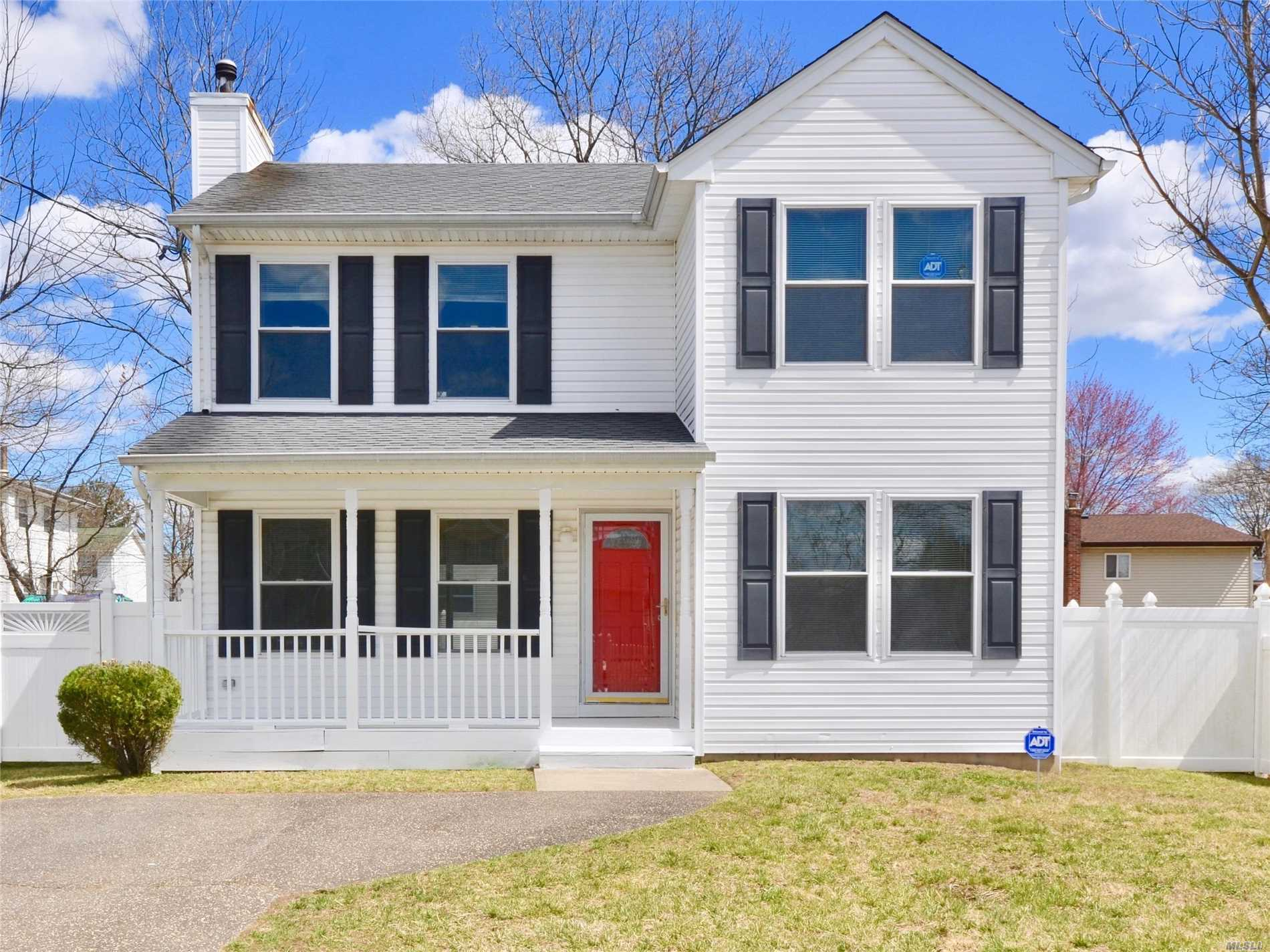 Mint 3 Bedroom 2 Full Bath Colonial Clean Well Maintained Home on a Quiet Residential Block With Flat Private PVC Fenced Property. Main Level Has Gorgeous Hardwood Floors. Upper Level Master Suite Includes a Vaulted Ceiling, Walk-In Closets and A Master Bath. Must See