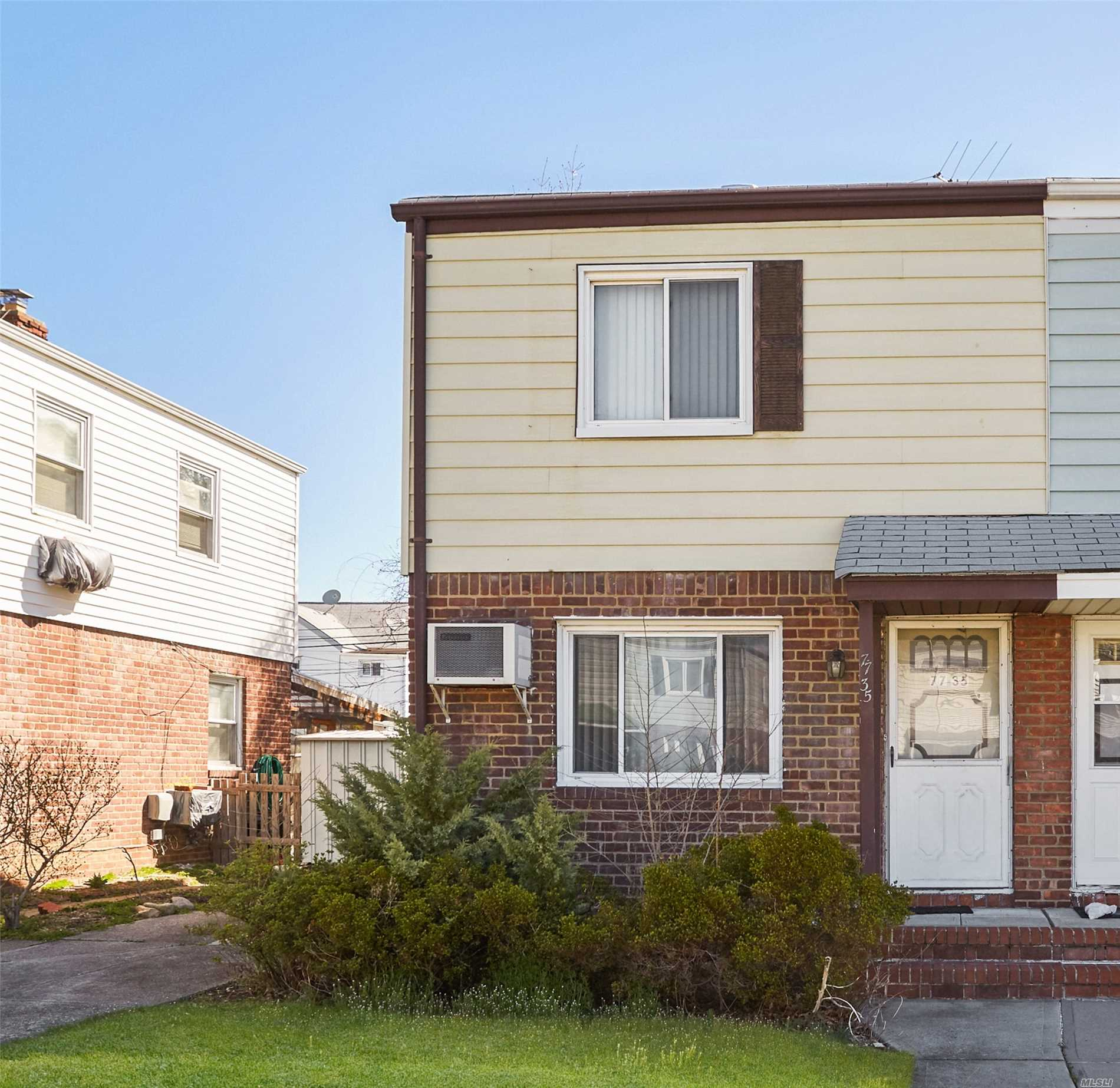 Semi Detached Colonial with 2 Bedrooms, 1 Full Bathroom, Living Room, Eat-in Kitchen And Attic. This Home Also Features a Full Basement and a Private Driveway. Great Location, Close to Shopping and Transportation.