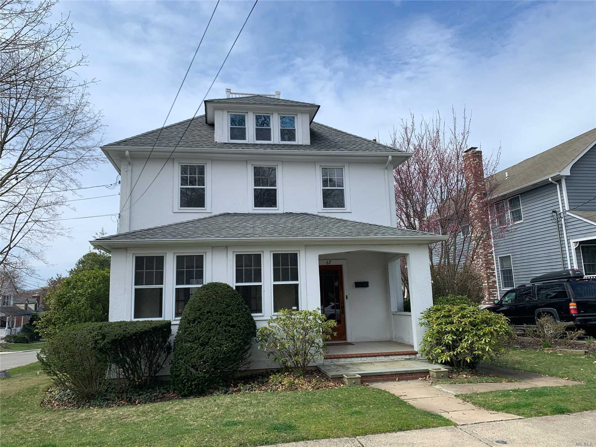 Charming 3 bedroom colonial home in the heart of Oyster Bay close to shopping and dining. Lawn care included, street parking only. Tenant pays all utilities. Full credit report and rental application is subject to landlords approval.