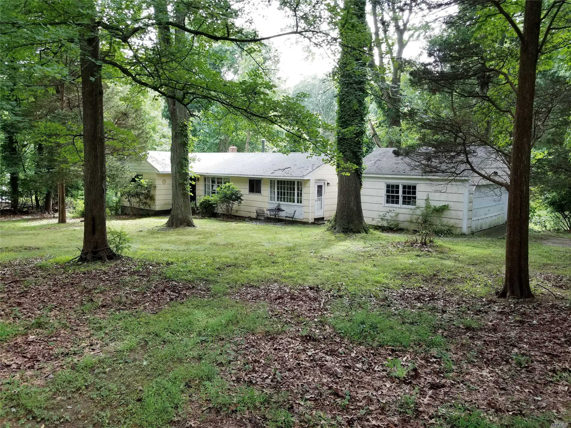 Great Opportunity For A Weekend Get Away Or To Create Your Dream House On 2 Plus Acres! Private Beach Association With Mooring. Private Wooded Setting, Detached 2 Car Garage.