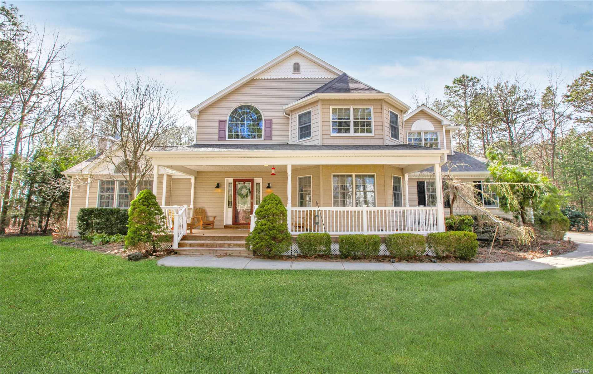 Amazing 4 Bedroom 2.5 Bath Custom Built Victorian Nestled On Almost 2 Acres Of Privacy. Featuring High Ceilings, Wood Floors Throughout, Great Room w/Fireplace! Full Basement w/Room for Mom. Tranquil Setting with Huge Front Porch and Parklike Backyard for Entertaining.