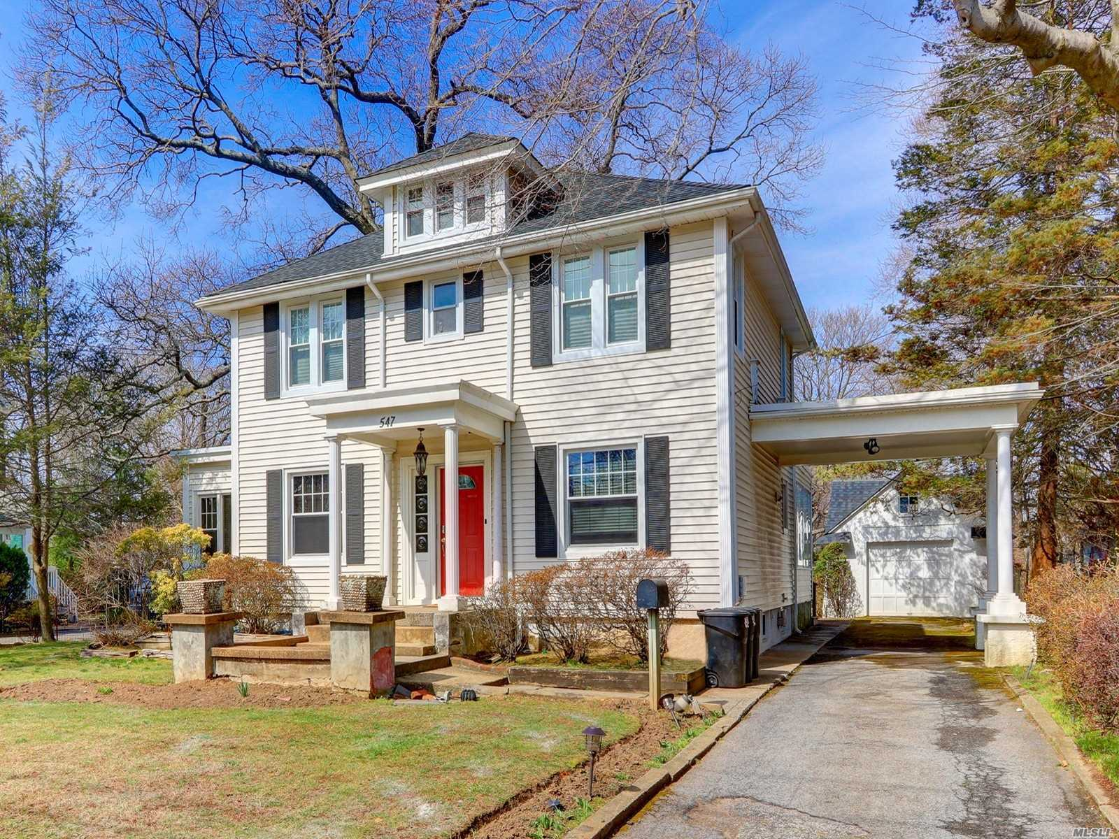 Gracious Expanded Colonial With Old World Charm Located On Parklike Property, Updated Windows And 6 Year Old Roof. Center Hallway, Extra Lg. Dr, Windowed Bkfst Rm Overlooking 75 X 290 Property. Hardwood Floors Throughout, New Main Floor Fbth, Finished Attic. A Must See!