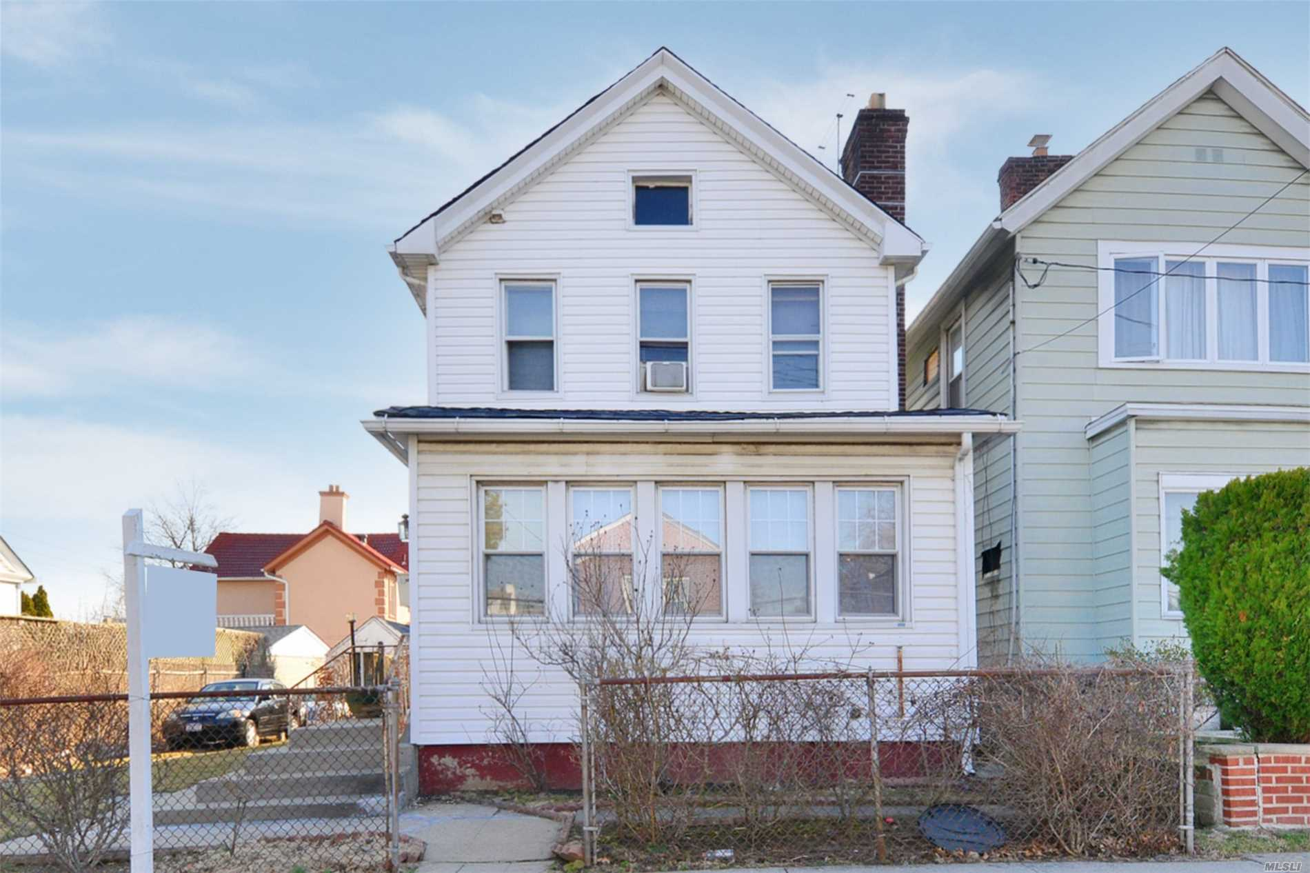 Just arrived- this property is perfect for rebuild/expansion as it is oversized at 5, 000 square feet. Great location- convenient to all. SD 25 - P.S. 193 Alfred J. Kennedy, J.H.S. 194 William Carr, Flushing High School.