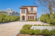 Mediterranean Villa on L.I. Sound. Contractors own home. Built without compromise. Open floor plan, Portico Entry, EIK Features Handmade Lacanche Gas Range. Front/Rear Terraces plus Balcony off Mstr Br & Br/Studio. 3rd Floor: Boiler, Electric, CAC & Rooftop Generator. 11 Zone Radiant Heat, 6 Zone HVAC. Solar Panels (26/not leased), PSEG/$121.28 Monthly. Block/Stucco Fencing (650'+ ft.), Cobblestone Borders, Courtyard Fountain, Detached Garage/Workshop. Taxes w/Star & Village $16, 864.96.