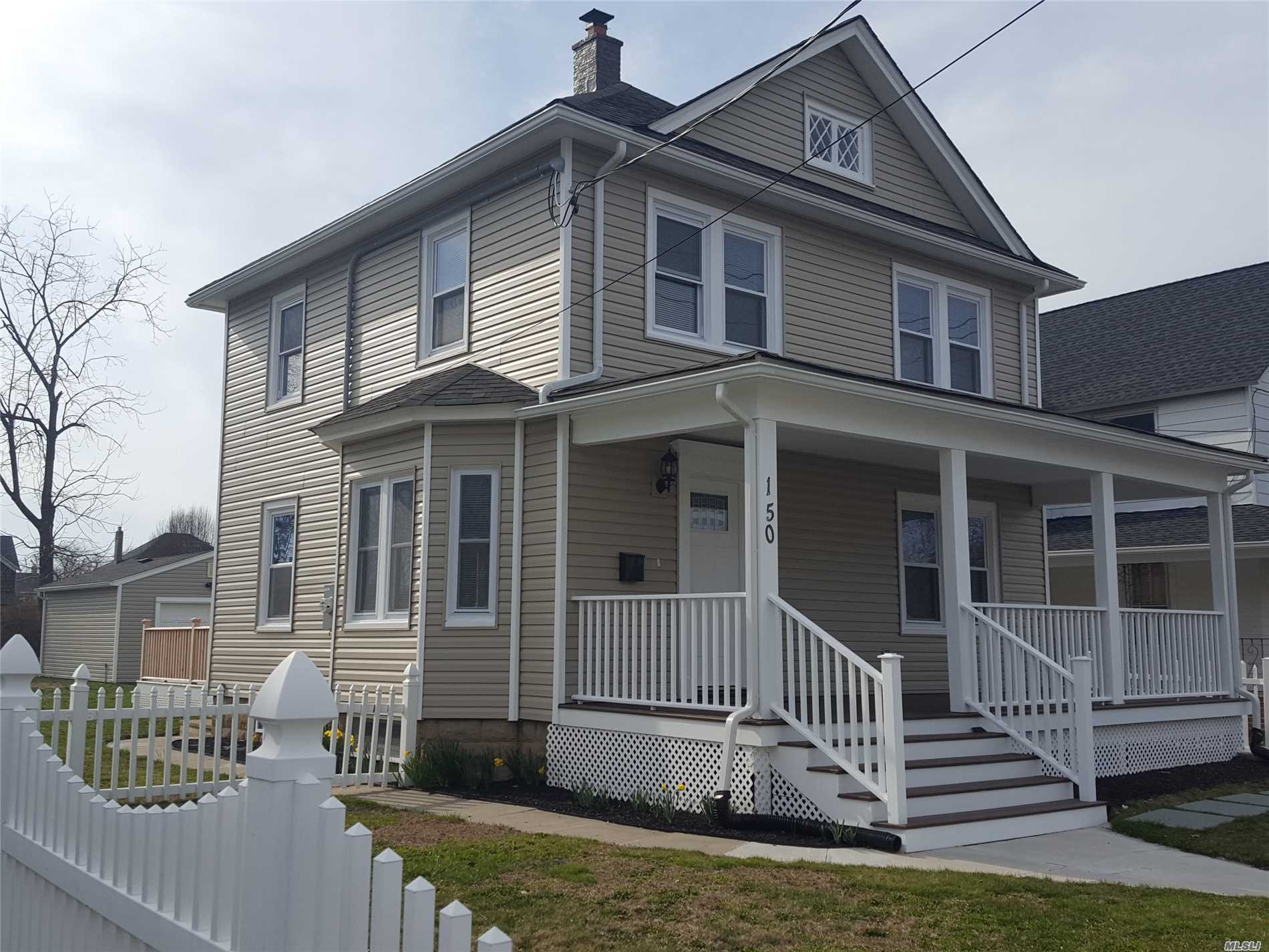 Outstanding Fully Renovated Village Colonial Located In The Heart Of Patchogue Close Distance to Main Street With Shopping, Restaurants, Theatre, Beaches And Public Transportation. No Expense Spared On This Charmer, Everything New Including Kitchen, Baths, Roof, Windows, Siding, Heating System, Electric, Plumbing, Septic, Trex Porch, Raised Panel Staircase And More. Move In Ready. Call Today For Private Showing