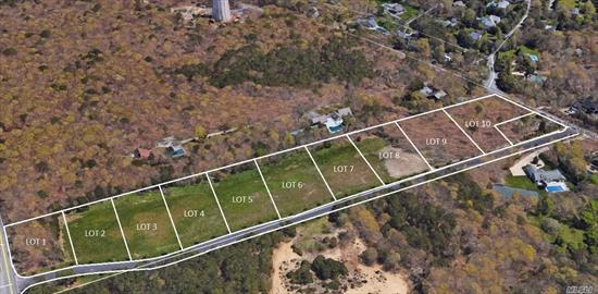 Welcome To Post Fields At Quiogue -- 9-Lot Subdivision. Calling All Builders. Prime Location To Build High-End Homes On 2/3-Acre Lots In Quiogue. Short Distance To Rogers Beach, Main St. & All That The Village Of Westhampton Beach Offers. $335, 000/Lot.