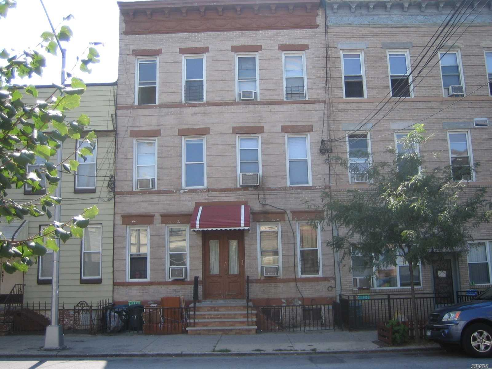 Renovated 2 bedroom, 1 bath apartment, first floor, close to transportation, L train and shopping.