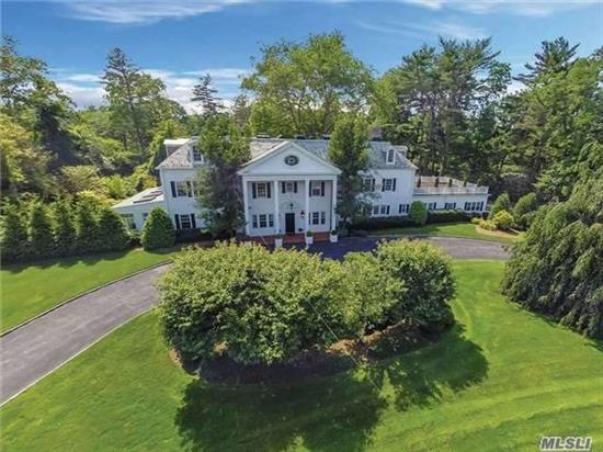 Grand Manor Home On Over 2 Park-Like Acres, Former Fortunoff Estate . Luxurious Workmanship & Classically Inspired Architecture 10000 Sqft, Renovated & Restored. Generous Entertaining Spaces. Stately Reception Hall W/Dome Paneled Staircase, Grand Living Room, Baronial-Sized Fdr, Chef's Kitchen, Total Of 8 Brs, And 7.5 Bths, Movie Theater, 8 Fireplaces.Taxes are Being Grieved.